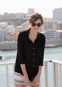 Sézane / Morgane Sézalory - Direction Marseille - Douglas Shirt #sezane www.sezane.com/fr #frenchbrand #frenchstyle #springcollection #shirt
