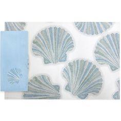 Croscill® Mosaic Shells Placemat and Napkins - BedBathandBeyond.com