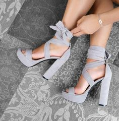 Bring Glamour To Your Feet With Trendy Chunky Heels 12 Yasmin Fashions Cute Shoes Heels, Fancy Shoes, Ankle Strap Shoes, Lace Up Heels, Pumps Heels, Ankle Heels, Women's Shoes, Formal Shoes, Court Shoes