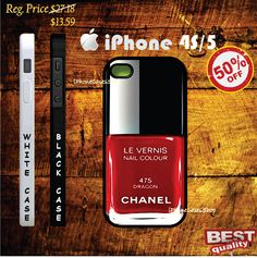 Chanel Dragon Nail Polish Case iphone 4s case and iphone 5 case - iphone 4 case, iphone 4s case, iphone 5 case