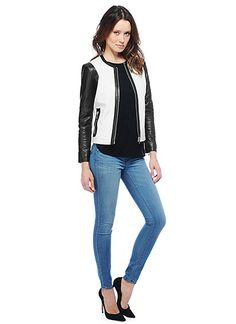 BB Dakota Official Store, Alec Jacket, black white, Denim Jackets, DE12229