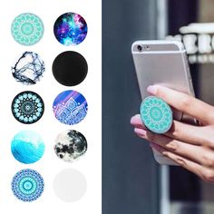 Universal Pop Socket Style Phone Holder Grip Stand Tablet Car Case For Iphone in Phones & Accessories, Mobile Accessories, Mounts & Holders Pop Socket, Latest Phones, New Phones, Cute Phone Cases, Iphone Cases, Cute Popsockets, Telephone Samsung, Cell Phone Grip, Support Telephone