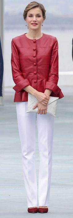 Queen Letizia of Spain attends 'Toma la Palabra' cultural program for schools at the 'Jeronimo Gonzalez' school on June 20, 2017 in Sama de Langreo, Spain.