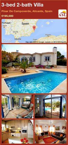3-bed 2-bath Villa in Pinar De Campoverde, Alicante, Spain ►€195,000 #PropertyForSaleInSpain