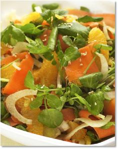 New Low FODMAP Recipes - Moroccan carrot and orange salad http://www.ibssano.com/low_fodmap_recipe_moroccan_carrot_orange_salad.html