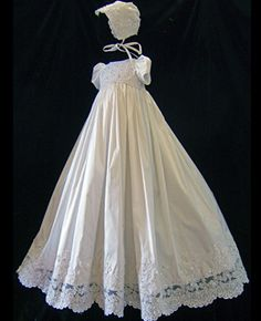 Oriana Gown, handmade silk christening gown, made in USA