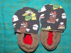 Baby Booties Birth to 9 Months Nintendo Super Mario Bros. - Medium Weight Fabric by BettieJune on Etsy