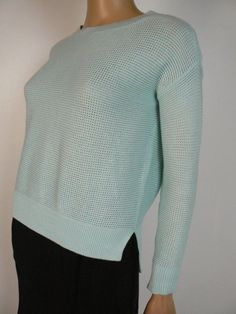 a05363c6a1d Ann Taylor Pale Blue Green Loose Fit High Low Sweater Petite XS NEW A927   AnnTaylorLOFT