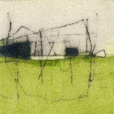 'Untitled #1814' (2010) by American artist Jay Kelly (b.1961). Acrylic & graphite on vellum, 5 x 5 in. via the artist's site