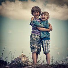 Boys at Le Mont St Michel