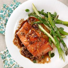 Orange-Pecan Salmon for Two Recipe -Give a classic seafood meal a flavorful twist with the addition or orange and pecan. This saucy salmon is the perfect meal for a romantic dinner for two. —Pat Neaves, Lees Summit, Missouri