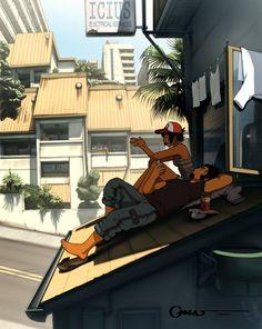 5C Gradius and ? - 50 Examples of Anime Digital Art  <3 <3