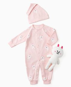 LINE Friends Newborn gift Baby clothes doll SET boy long-sleeve Cony Character #LINEFriends