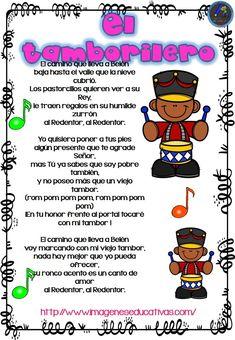 Cuaderno de villancicos para Navidad - Imagenes Educativas Spanish Christmas, Spanish Speaking Countries, How To Speak Spanish, Teaching Spanish, Spanish Language, Nursery Rhymes, First Grade, Nostalgia, Prayers