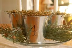 Simple Advent wreath - change candles to tranditonal pink/purple