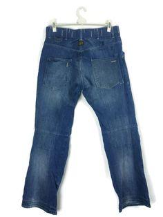 Men s G-STAR FIRE ELWOOD W34 L34 Jeans 3301 Loose Fit Bootcut Denim Combat 6