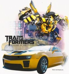 8 Round  Transformers Bumblebee Birthday  Edible Image CakeCupcake Topper * Learn more by visiting the image link.