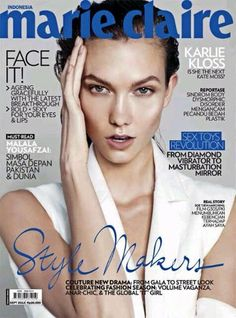 Karlie Kloss for Marie Claire Indonesia - September 2013 Fashion Magazine Cover, Fashion Cover, Magazine Covers, List Of Magazines, Fashion Magazines, Black And White Love, Karlie Kloss, Female Stars, Victoria Secret Angels