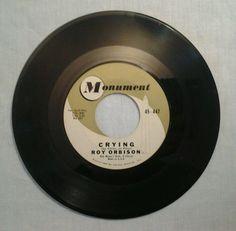 "Roy Orbison 45 rpm Record 7"" - Crying / Candy Man - Monument Records 1961 #BluesRock #ebay #GotPicks"
