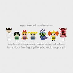 Powerpuff Girls Cross Stitch Pattern PDF by pixelsinstitches
