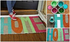 diy door mat clever using big stencils from the dollar store .