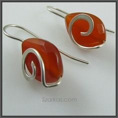 Love the contemporary look of Szarka's forged carnelian earrings