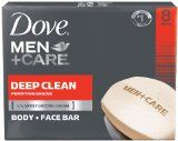 Dove Men+Care Body and Face Bar, Deep Clean 4 oz, 8 Bar - http://47beauty.com/dove-mencare-body-and-face-bar-deep-clean-4-oz-8-bar/  Dove Men+Care Body and Face Bar, Deep Clean 4 oz, 8 Bar   Dove Men+Care Deep Clean Body and Face Bar thoroughly cleanses and hydrates for healthier, stronger skin versus regular soap #1 Dermatologist Recommended Made with 1/4 moisturizing cream – thoroughly cleans skin without leaving it feel dry or tight Patented design with unique tech