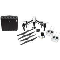DJI Inspire 1 Quadcopter with 4K Camera and 3-Axis Gimbal - Bundle With 2 Remote Controls, 32GB Class 10 U3 MicroSDHC Card, DJI 1345s Quick-Release Propellers