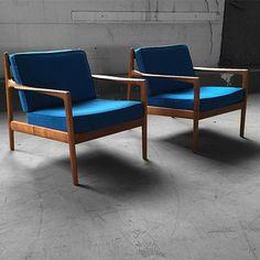 Attraktiv Capable Swedish Midcentury Modern Folke Ohlsson Teak Lounge Chairs For Dux  (Sweden, 1960s)