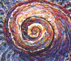 Spiral Meditation by Kalyna Pidwerbesky. Felt and fibre