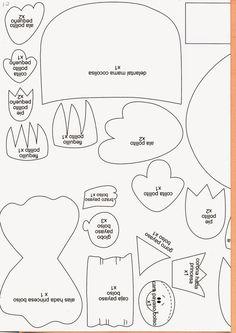 Revistas de Foamy gratis: hacer fofuchas paso a paso molde 6
