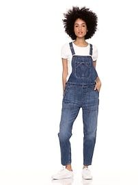 Relaxed Denim Overalls | Gap Picnic Outfits, Denim Overalls, Bold Fashion, Straight Leg Pants, Midi Skirts, Indigo, Distressed Jeans, Gap, Celebrities