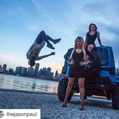 Just a typical day in the life of a traceur right?  #Repost @thejasonpaul  How to photobomb in #Miami - photo by @ediphotoeye #freerunning #flip #tweetme