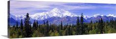 Premium Thick-Wrap Canvas Wall Art Print entitled Alaska Range Denali National Park AK, None
