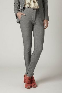 Anthropologie Aomori Crops Size M, Black Striped Jersey Pants Trousers By Kyliya #Kyliya #CaprisCropped