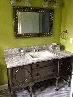 I want a side board so I can do this in my hall bathroom.