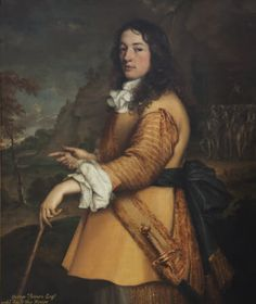 George Vernon (1659-1660) John Michael Wright Oil on canvas. Measurements: 1232 x 1029 mm. Exhibited, Sudbury Hall, Derbyshire. National Trust [Inventory Number 653152]