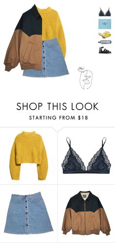"""psycho killer"" by anastuhec ❤ liked on Polyvore featuring Mon Cheri, H&M, STELLA McCARTNEY, FRUIT and Dr. Martens"