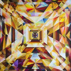 The Prismatic Realms of Michelle Hinebrook Disney Drawings, Art Drawings, Art Nouveau, Bargello Quilts, Deco Design, Geometric Art, Architecture Art, Texture, Decoration