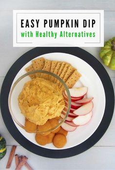 Easy Pumpkin Dip with Healthy Alternatives
