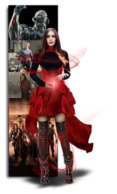 """Scarlet Witch"" by alexa-girl2 ❤ liked on Polyvore featuring art, Avengers, scarletwitch and Ultron"