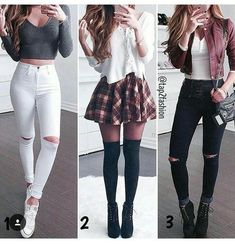 Teenage girl outfits, cute outfits for school, cute fall outfits, chic outf Teenager Outfits, Teenager Mode, Teenage Girl Outfits, Cute Outfits For School, Cute Fall Outfits, Teen Fashion Outfits, Mode Outfits, Cute Fashion, Outfits For Teens