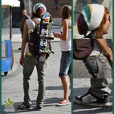 skater girl rockin sum DCs would be more me a young n reckless beanie and a dyrdek skateboard but ill take the alien workshop board to hehe