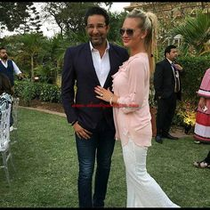 The adorable couple #WasimAkram with wife #ShanieraAkram at British High Commission for the #Alakramfoundation charity tea #swingkasultan #cricketpakistan #cricket #cricketer #pakistan #pakistanicricket #pakistani Showbiz Whisper #PakistaniActor #ShowbizWhisper #Pakistanicelebrities #LIKEUS