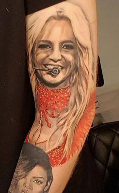 Best 22 Britney Spears Fan Tattoos – NSF – Music Magazine Britney Spears Songs, Fan Tattoo, Childhood Photos, Music Magazines, Tattoo Ideas, Tattoos, Artwork, Tatuajes, Work Of Art