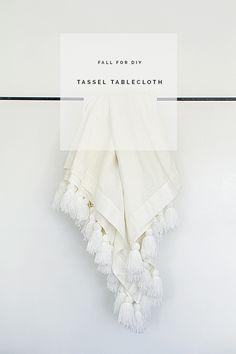DIY   Tassel Tablecloth Video