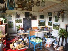 Rob Mason's studio in Dartmoor, England