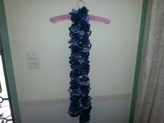 Dark Blue and Light Blue Ruffle Scarf by HecklesHaunt on Etsy