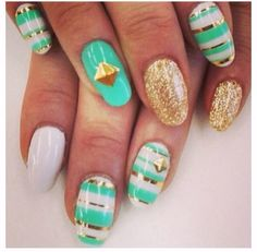 Beautiful nails. Cute nail designs.