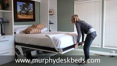 Murphy Bed that Converts to A Desk - Rustic Living Room Furniture Sets Check more at http://www.gameintown.com/murphy-bed-that-converts-to-a-desk/
